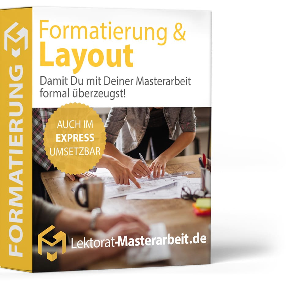 dissertation formatierung layout