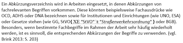 Text nach Indexangabe