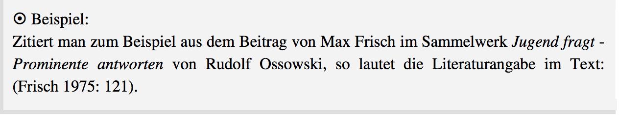 Beispiel Harvard-Stil im Text bei Sammelwerken