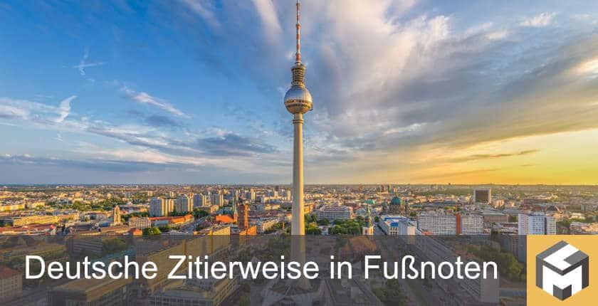Wie Nutzt Man Die Deutsche Zitierweise In Fußnoten